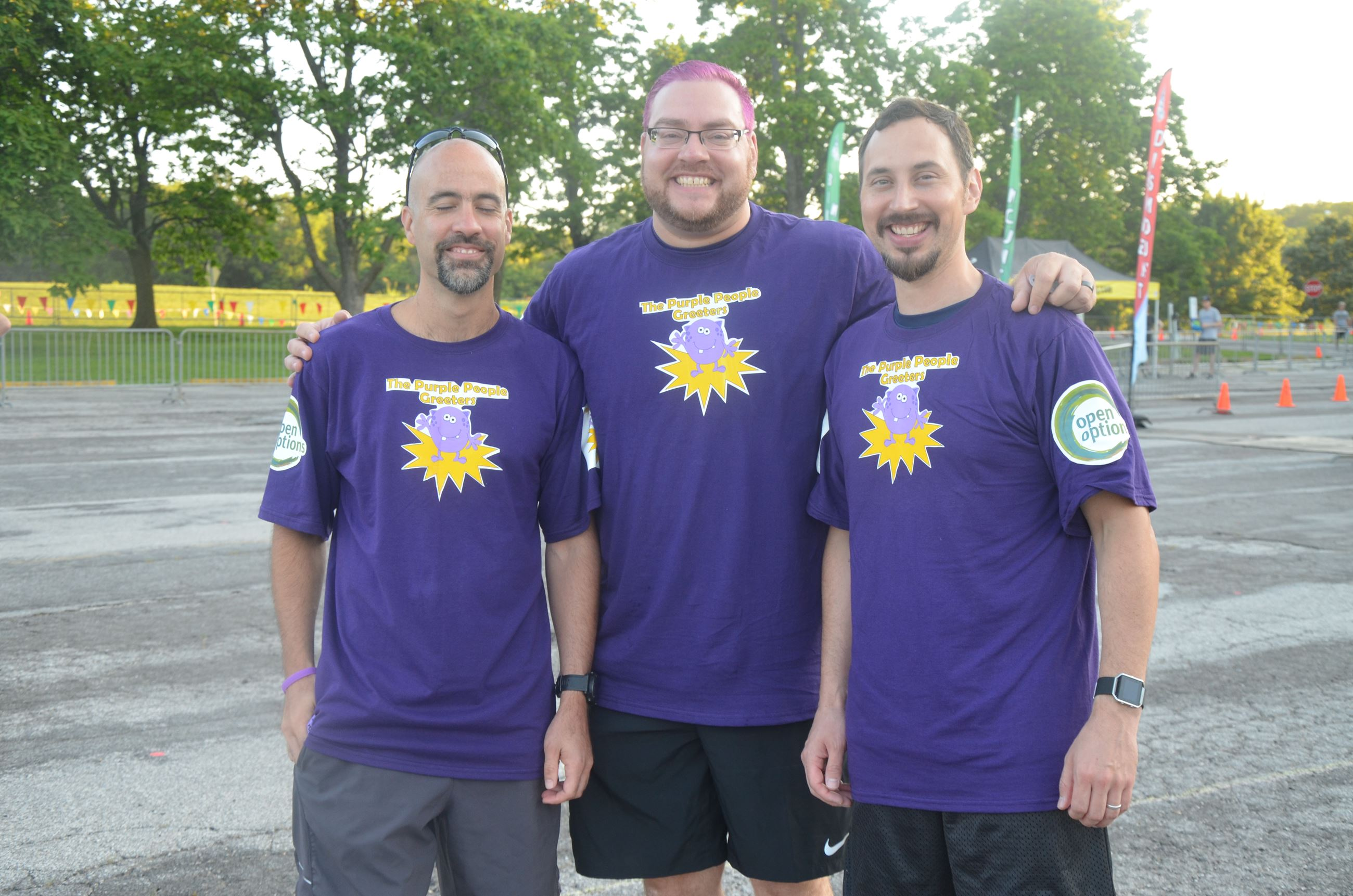 Purple team members at 2017 Triathlon