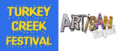 Turkey Creek Festival and Artisan Expo logos