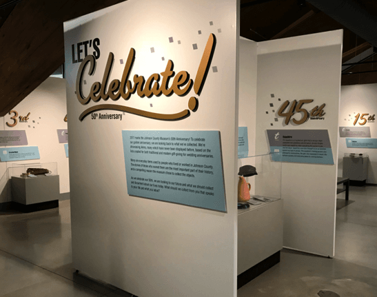 Inside the 50th anniversary exhibit of the JOCO Museum