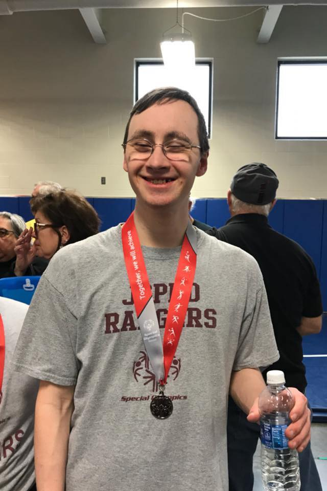 Special Olympics athlete