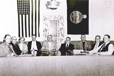 1955 First Board of Commissioners of Shawnee Mission Park (SMP) District