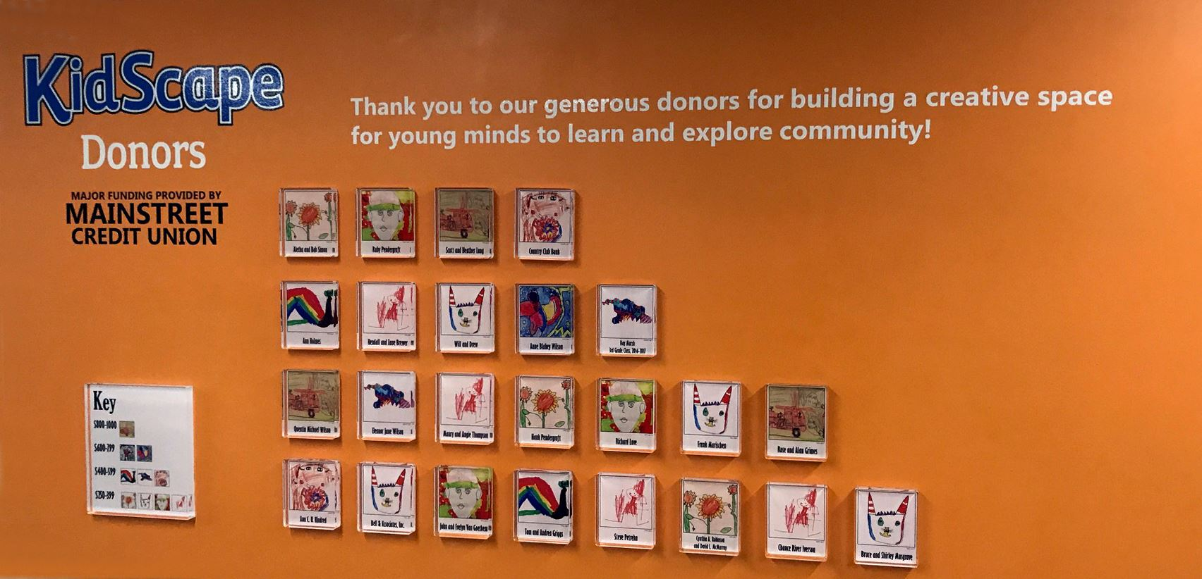 Kidscape Donor Wall